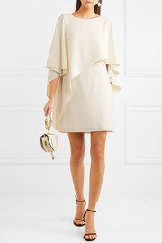 Halston Heritage Draped crepe mini dress