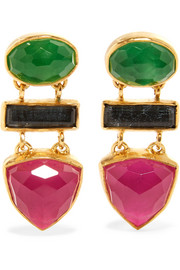 Gold vermeil multi-stone earrings