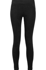 L'Agence Bijoux stretch-suede leggings