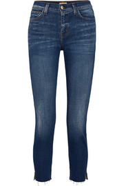Nicoline cropped high-rise straight-leg jeans