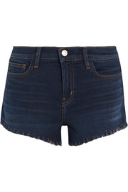 Zoe frayed denim shorts
