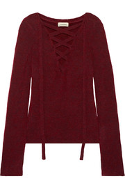 Candela lace-up knitted sweater