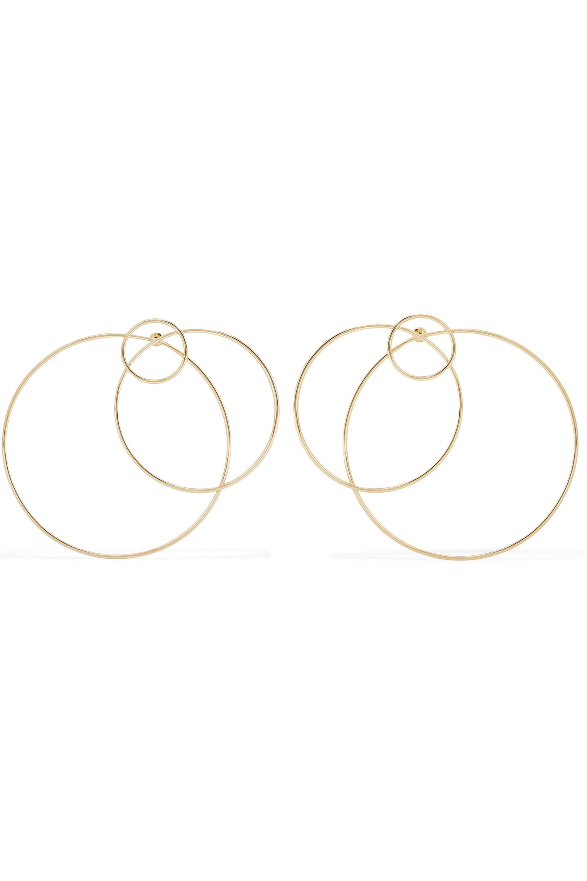 Arme De L'Amour Halo gold-plated earrings