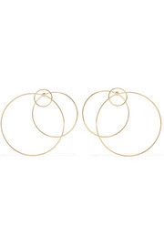 Halo gold-plated earrings