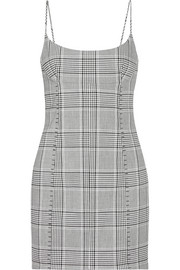 Alexander Wang Checked woven mini dress