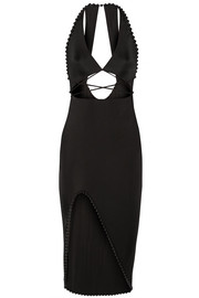 Alexander Wang Embellished cutout stretch-jersey midi dress