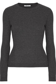 T by Alexander Wang Ribbed merino wool-blend sweater