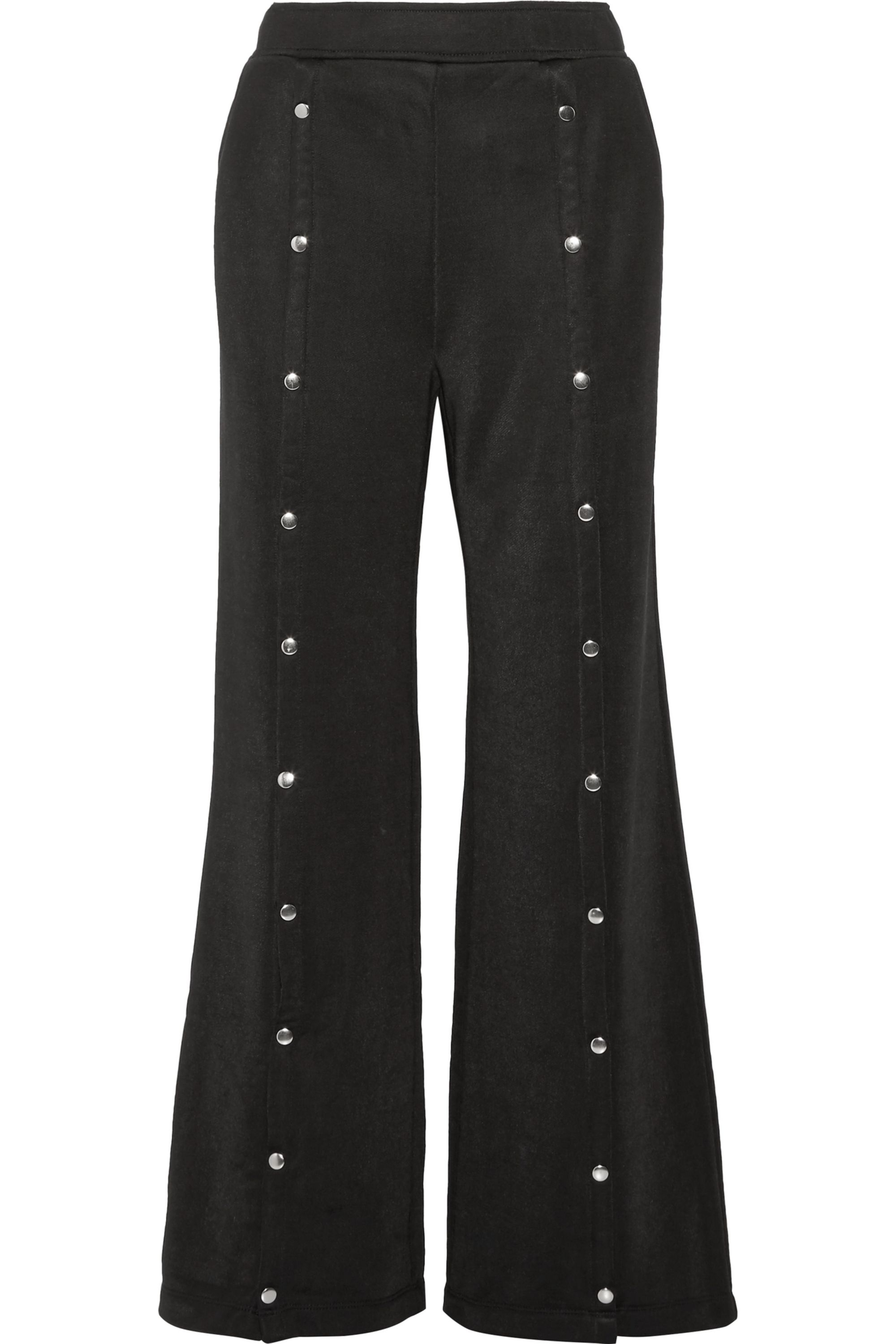 alexanderwang.t Coated French terry wide-leg pants