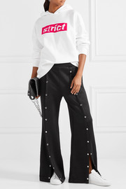 T by Alexander Wang Coated French terry wide-leg pants