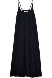 T by Alexander Wang Plaid gauze midi dress