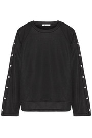 T by Alexander Wang Coated French terry sweatshirt