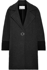 Oversized two-tone wool-blend felt coat