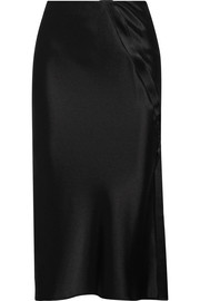T by Alexander Wang Satin midi skirt