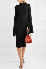 Ami open-back stretch-knit midi dress