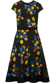 Lela Rose Floral-jacquard dress