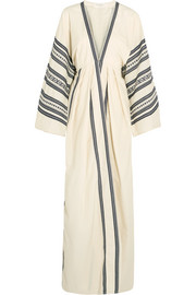 Celia Dragouni Embroidered cotton maxi dress