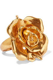 Rosette goldfarbener Ring