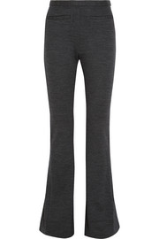 Wool-jersey flared pants
