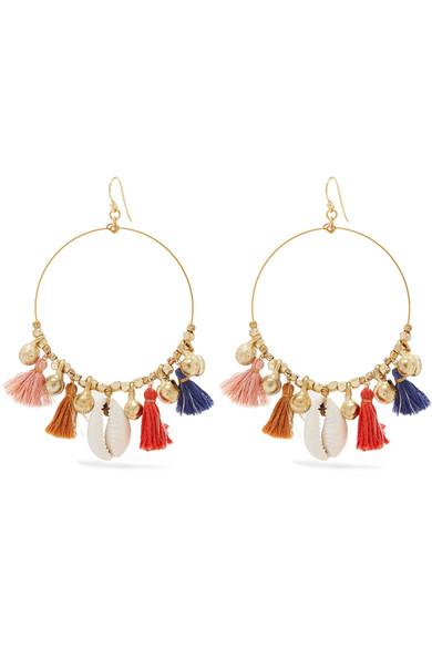 Chan Luu Gold Tone S And Tel Earrings