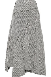 3.1 Phillip Lim Asymmetric frayed bouclé midi skirt