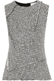 3.1 Phillip Lim Asymmetric frayed bouclé top