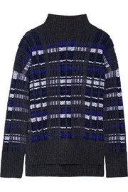 3.1 Phillip Lim Checked knitted turtleneck sweater