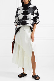 3.1 Phillip Lim Asymmetric cotton-blend maxi skirt