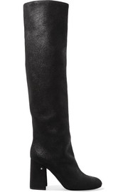 Parveen coated-suede knee boots