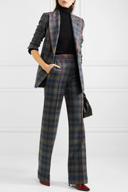 Angela checked merino wool blazer