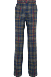Gabriela Hearst Shipton checked merino wool bootcut pants