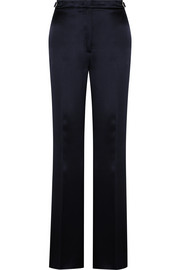 Vesta silk-satin bootcut pants