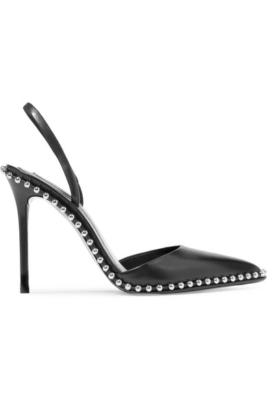 Rina Studded Leather Slingback Pumps by Alexander Wang