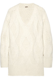 Adam Lippes Oversized cable-knit wool and cashmere-blend sweater