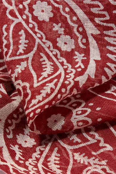 Star printed gauze scarf
