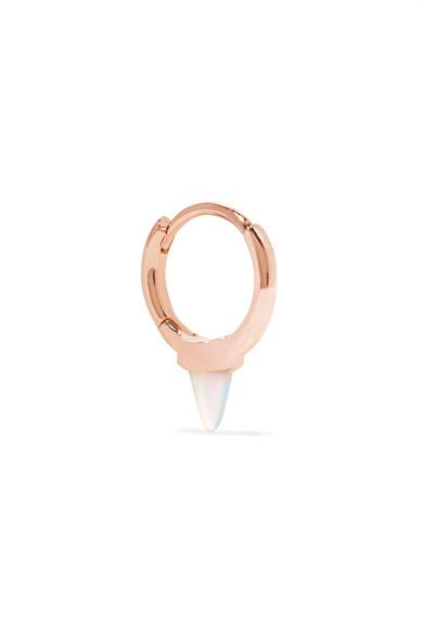 Maria Tash - 14-karat Rose Gold Opal Earring