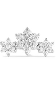 Flower Garland 18-karat white gold diamond earring