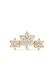 Flower Garland 18-karat gold diamond earring