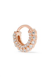 14-karat rose gold diamond earring