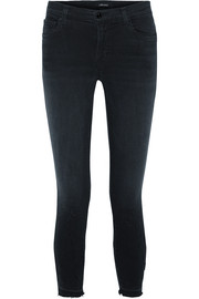 835 distressed cropped mid-rise skinny jeans