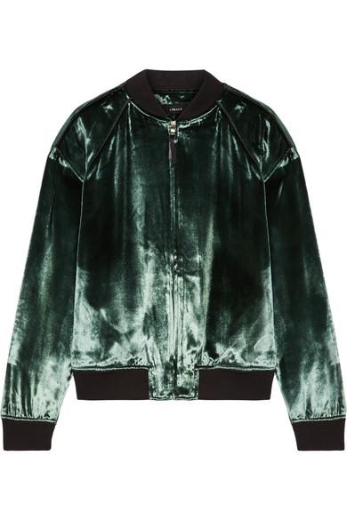 Pace Velvet Bomber Jacket - Green J Brand Top Quality Marketable PXyGV8E
