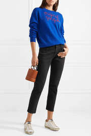 J Brand Sadey cropped mid-rise straight-leg jeans