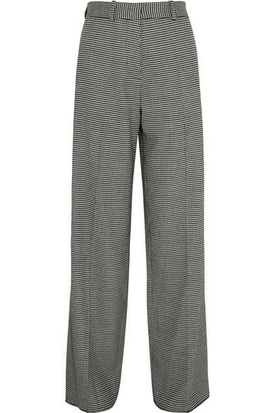 Victoria Beckham   Houndstooth wool-blend wide-leg pants   NET-A-PORTER.COM