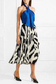 Jason Wu Draped satin-crepe halterneck top