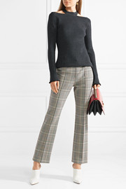 Jason Wu Cutout ribbed wool-blend sweater