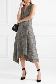 Jason Wu Asymmetric Prince of Wales checked wool midi dress