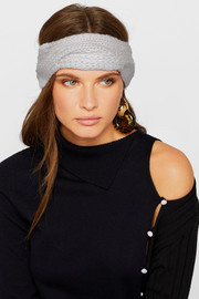 Cable-knit cashmere headband