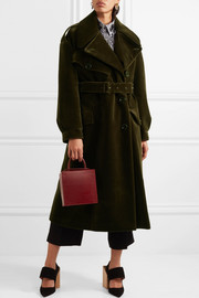 Simone Rocha Oversized belted cotton-blend velvet coat