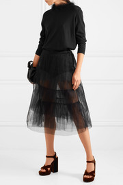 Simone Rocha Layered tulle midi skirt