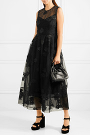 Simone Rocha Embroidered tulle midi dress