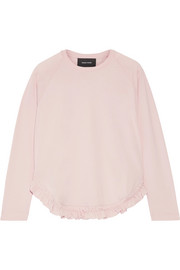 Simone Rocha Ruffle-trimmed cotton-jersey top